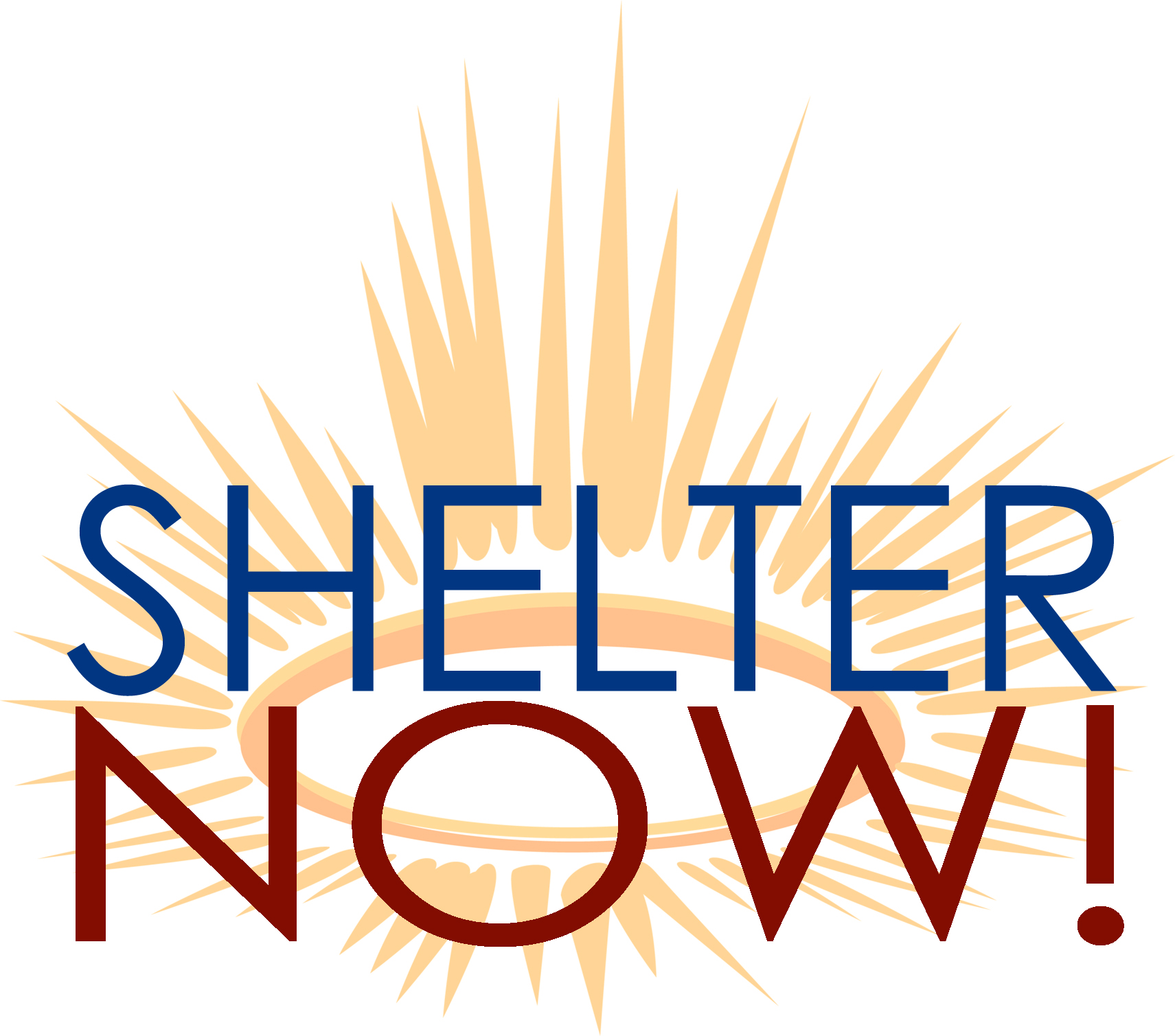 Shelter Now logo.