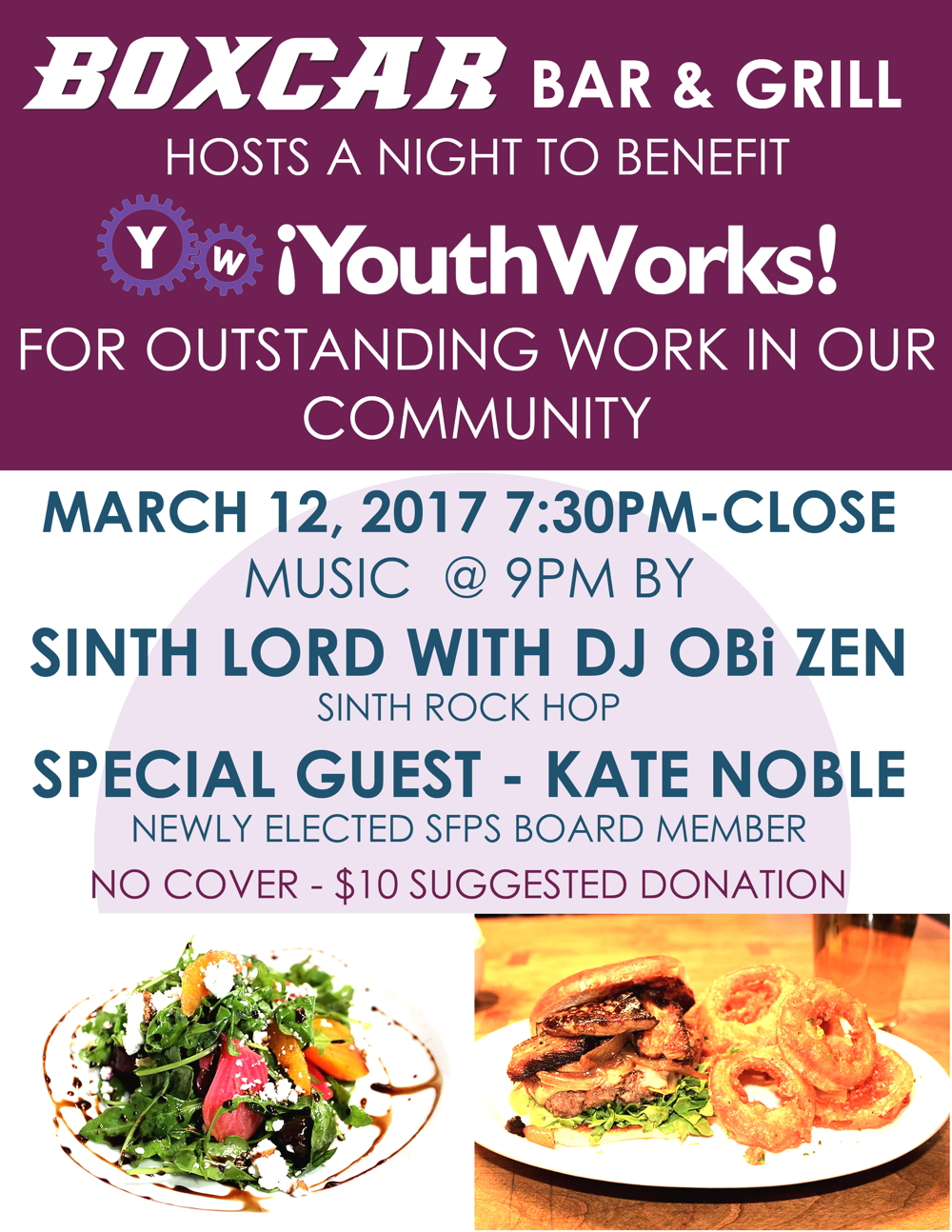 Boxcar Bar & Grill hosts a benefit for !YouthWorks! to honor their work in the Santa Fe Community.