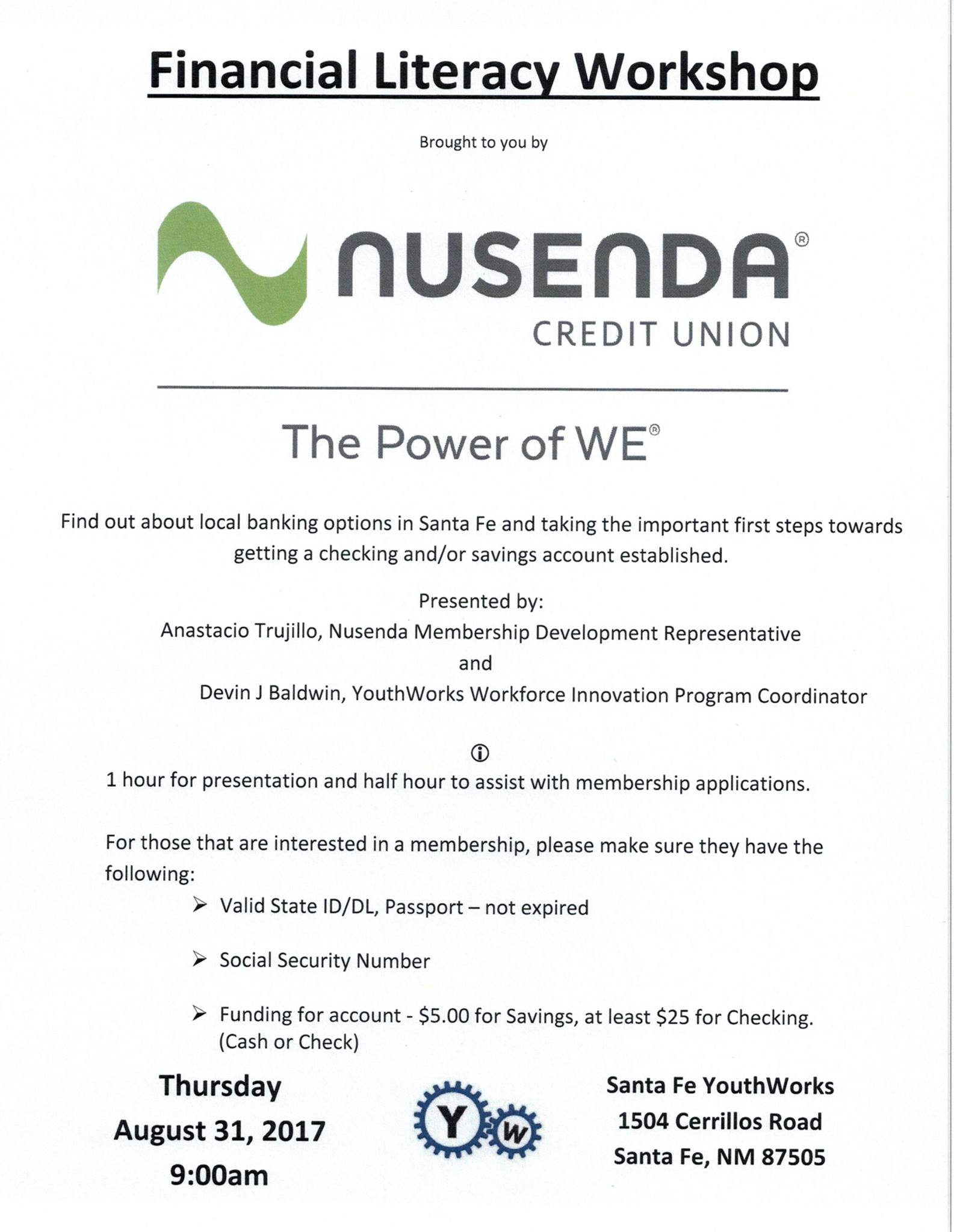 Nusenda Hosts Financial Literacy Class | YouthWorks