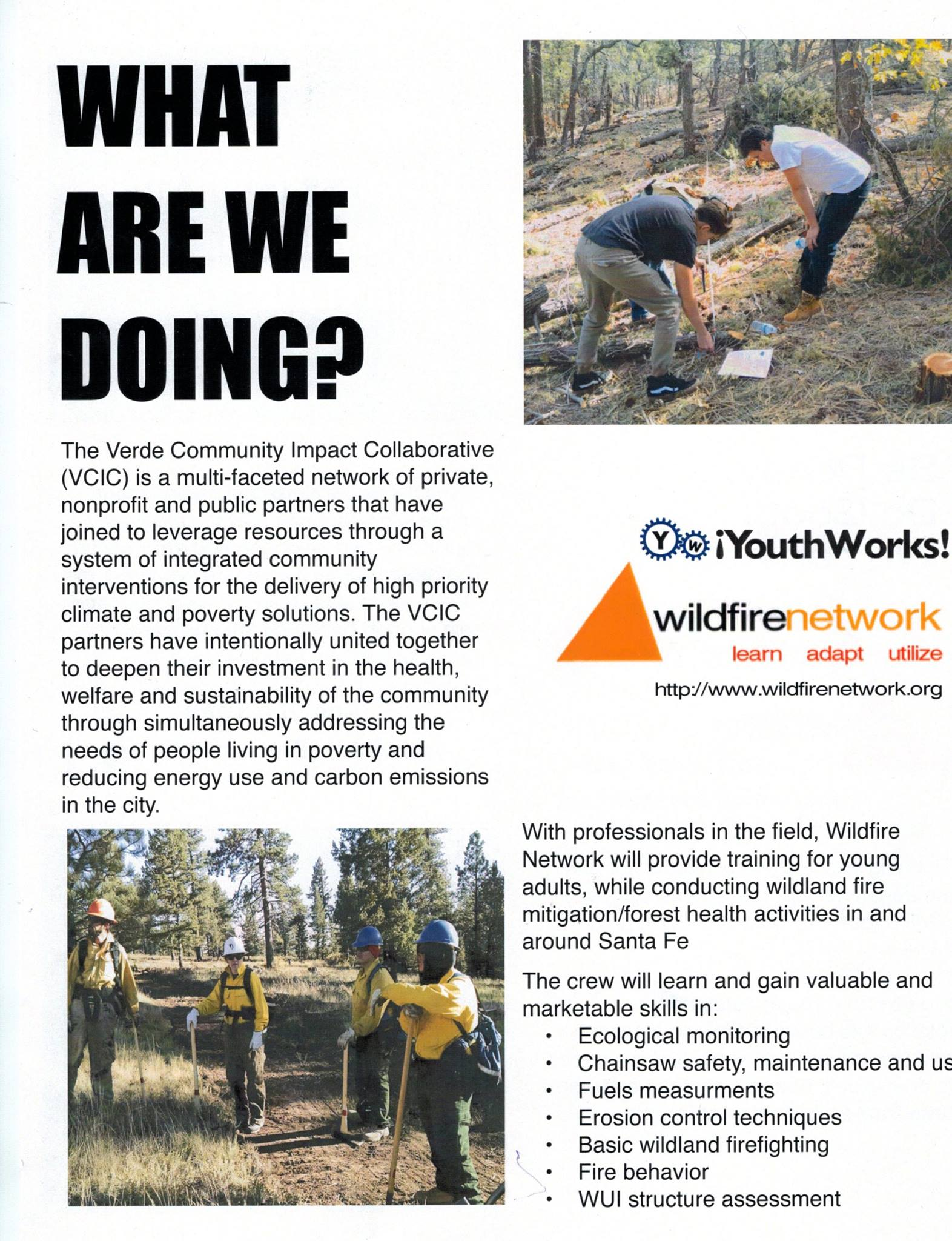 Wildfire network provides training for young adults as part of the Verde Community Impact Collaborative.