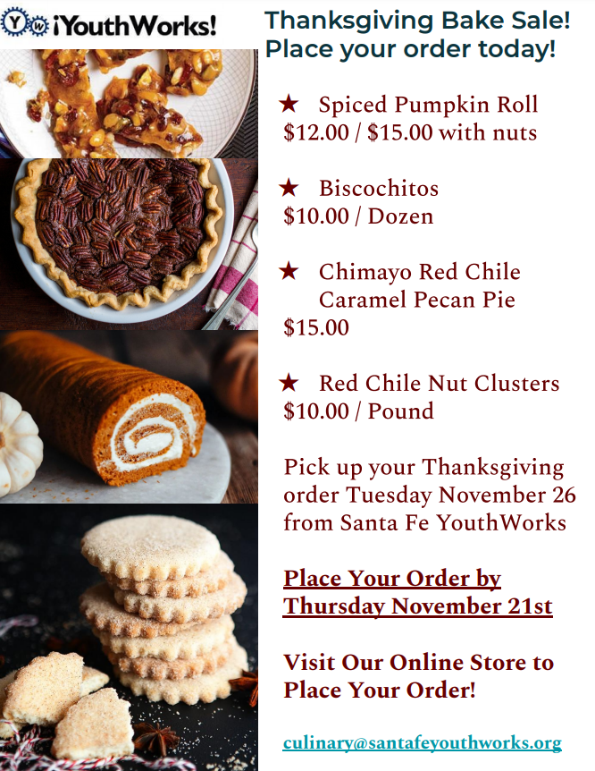 SF YouthWorks Thanksgiving Bake Sale